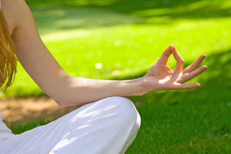 Detalle de la meditación imagen de archivo libre de regalías