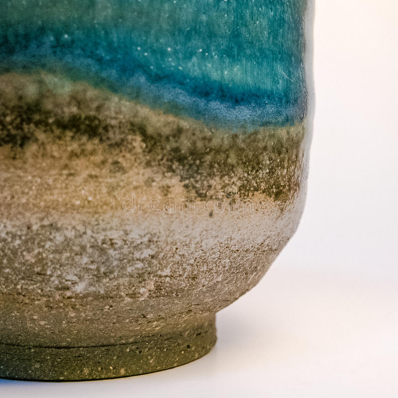 Detalle de la mercancía hecha a mano japonesa de la cerámica de Tokoname fotos de archivo libres de regalías