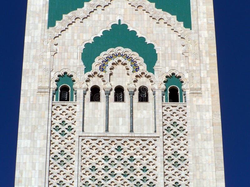Detalle de la mezquita de Hassan II (2), Casablanca, Marruecos fotografía de archivo