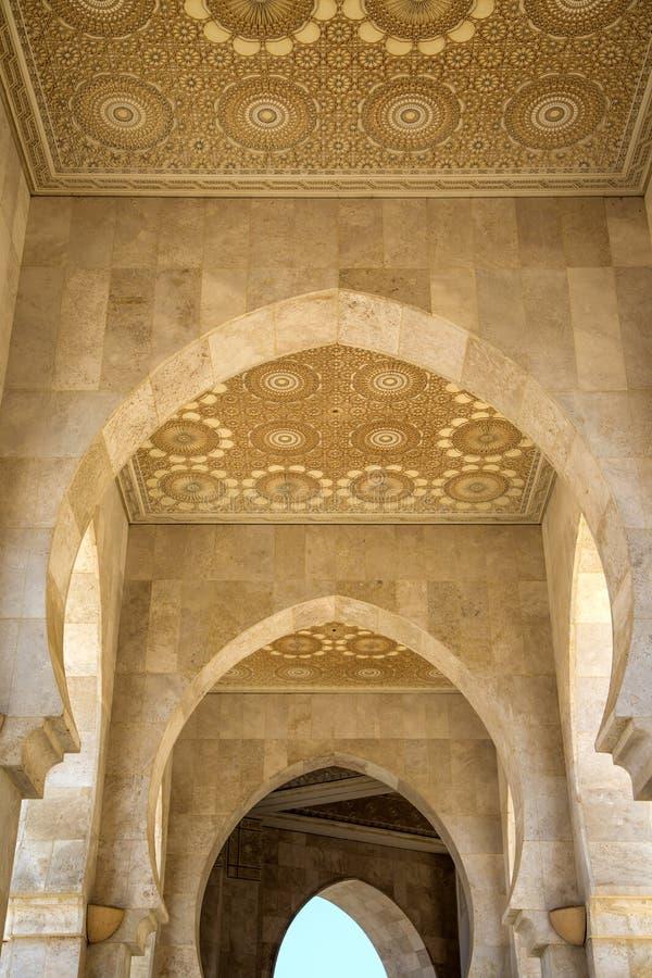 Detalle de la mezquita Hassan II en Casablanca, Marruecos imagen de archivo libre de regalías