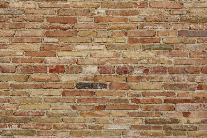 Detalle de la pared de ladrillo fotos de archivo