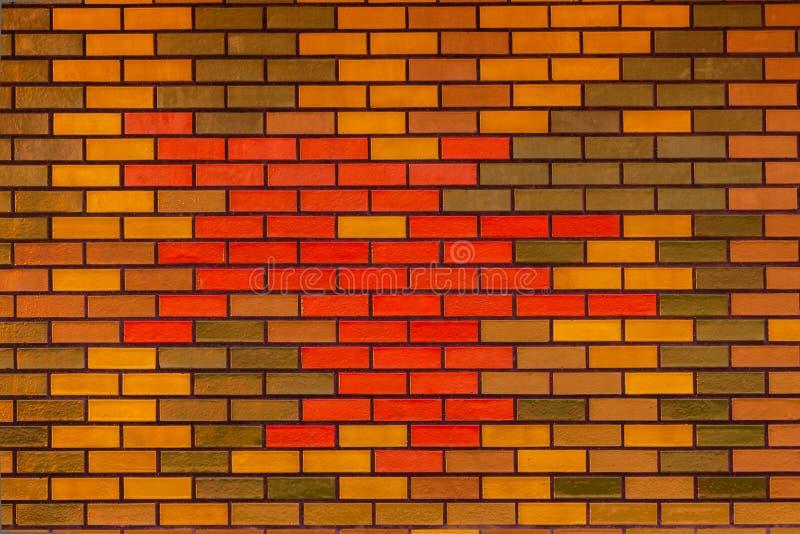 Detalle de la pared de ladrillo de los colores imagen de - Ladrillos de colores ...