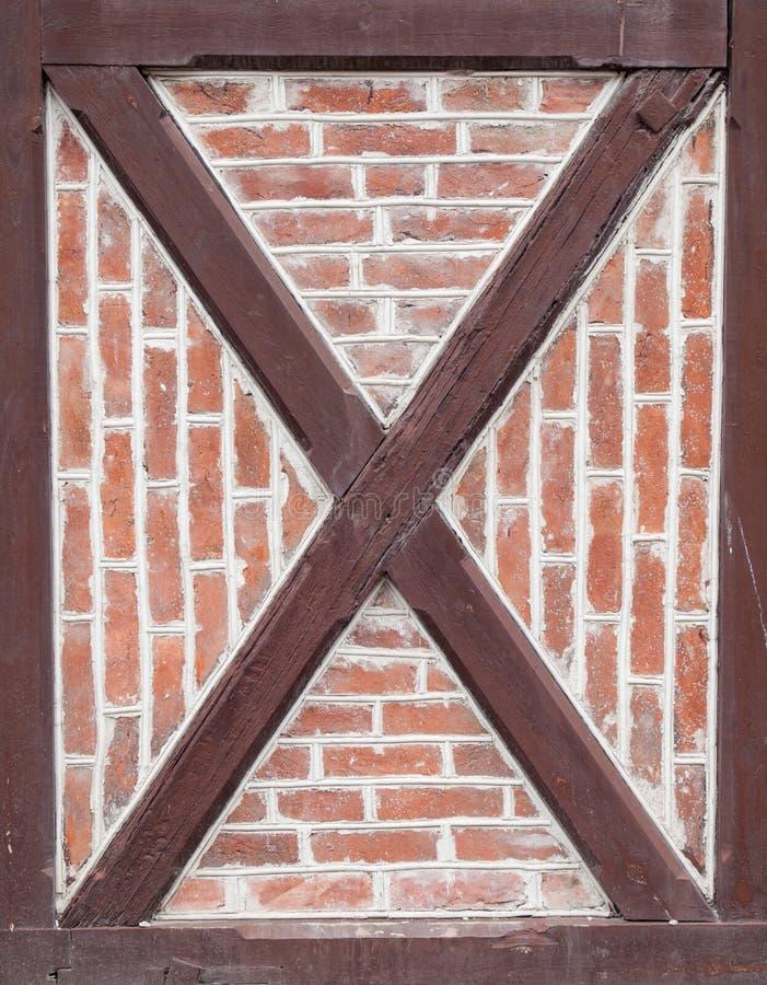 Detalle de la pared del marco de madera foto de archivo libre de regalías