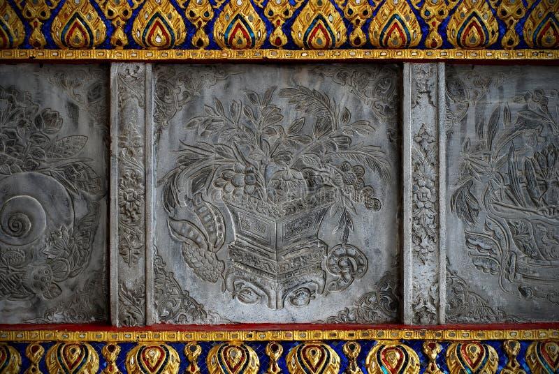 Detalle de la pared del templo imagen de archivo