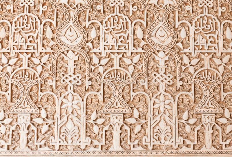Detalle de la pared que talla en alhambra granada imagen - Decoracion en granada ...