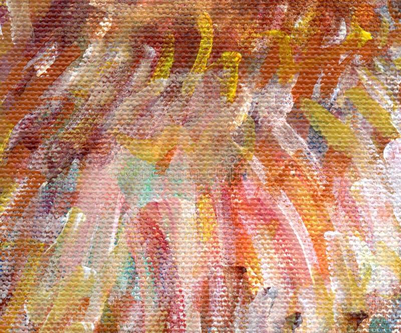 Detalle de la pintura de acrílico imágenes de archivo libres de regalías