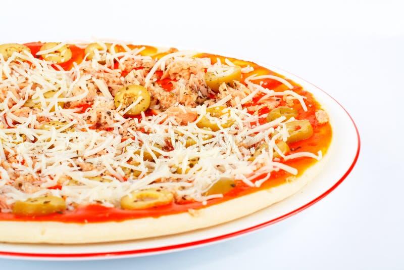 Detalle de la pizza italiana fotos de archivo libres de regalías