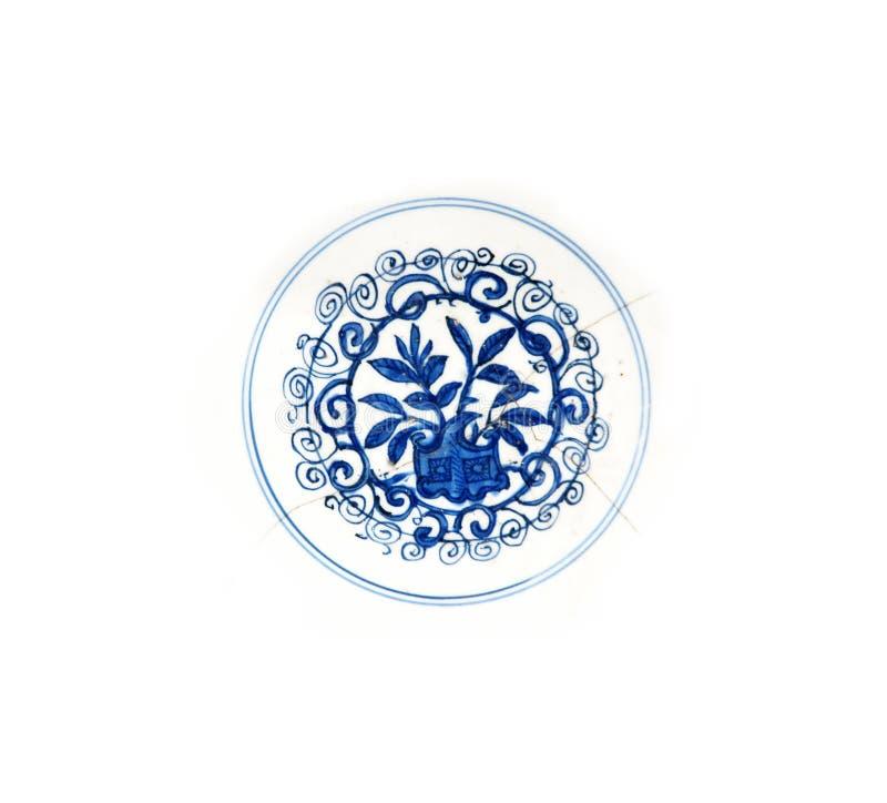 Detalle de la placa de Ming fotografía de archivo