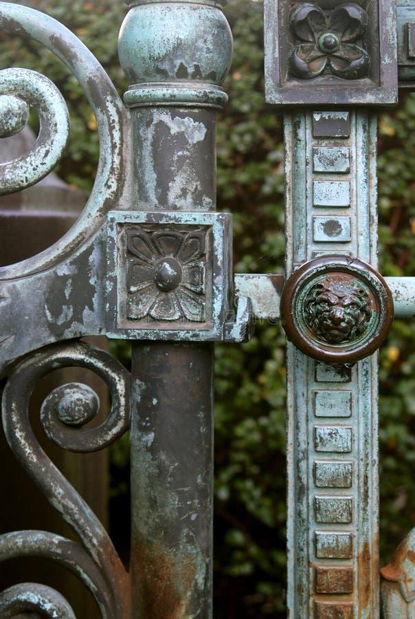 Detalle de la puerta imágenes de archivo libres de regalías