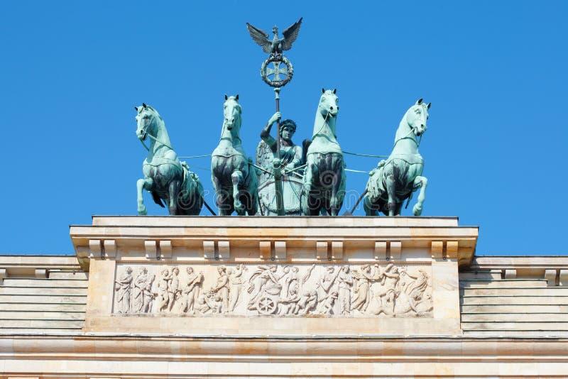 Detalle de la puerta de Brandeburgo, Berlín fotografía de archivo