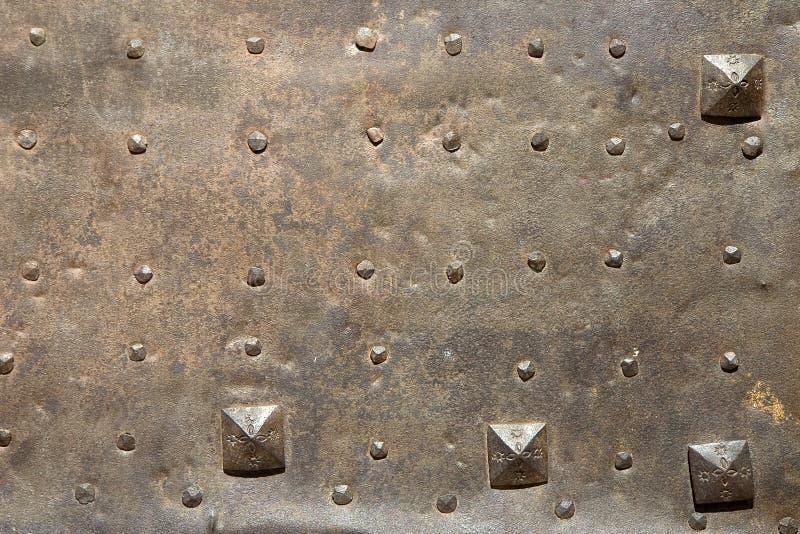 Detalle de la puerta del metal fotos de archivo