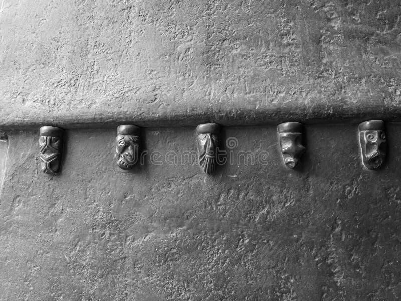 Detalle de la puerta de entrada ayuntamiento, Alemania Aquisgrán imagenes de archivo