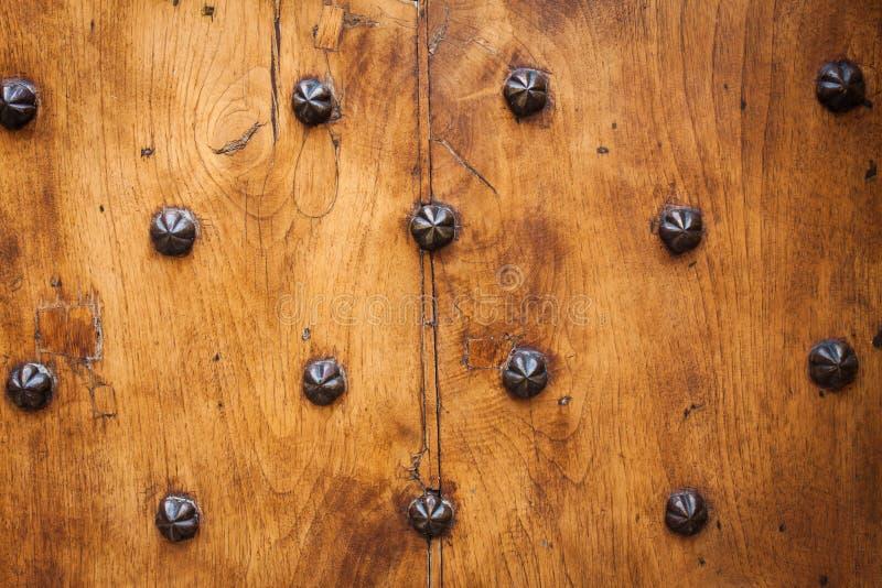 Detalle de la puerta sólida vieja foto de archivo libre de regalías