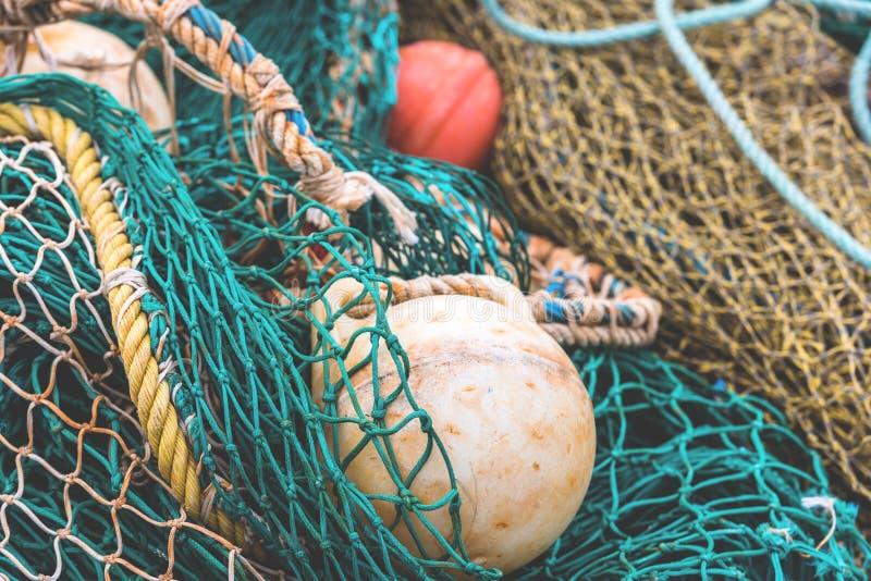 Detalle de la red de pesca fotos de archivo