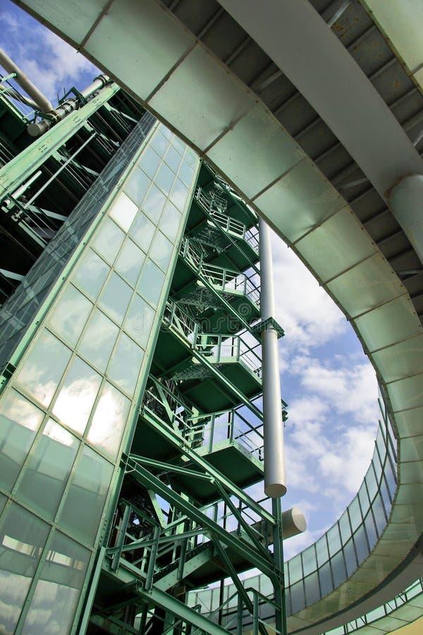 Detalle de la refinería imagenes de archivo