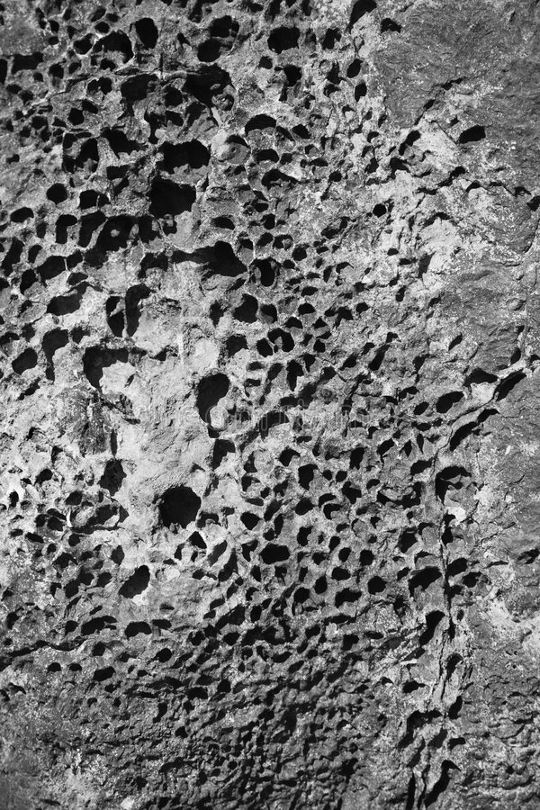 Detalle de la roca ígnea. fotografía de archivo