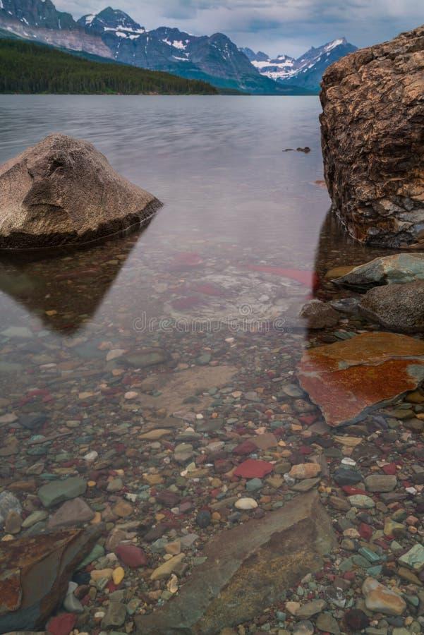 Detalle de la roca del lago Sherburne imagen de archivo libre de regalías