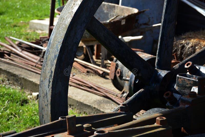 Detalle de la rueda del hierro imágenes de archivo libres de regalías