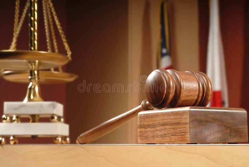 Detalle de la sala de tribunal fotografía de archivo