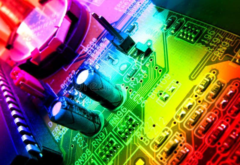 Detalle de la tarjeta de circuitos imágenes de archivo libres de regalías