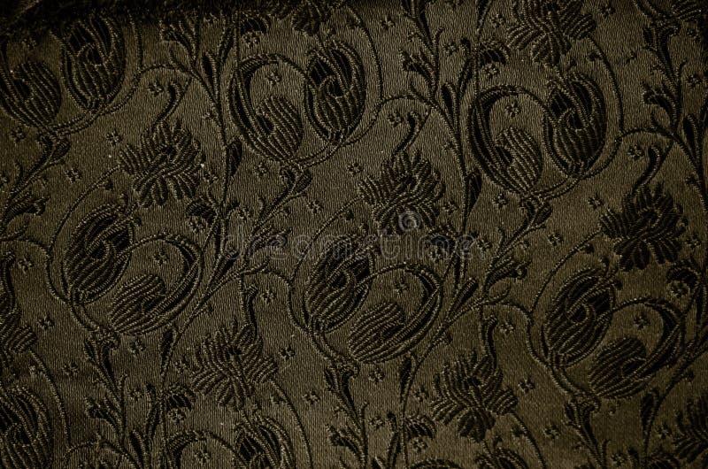 Detalle de la tela del brocado del vintage imagen de archivo libre de regalías