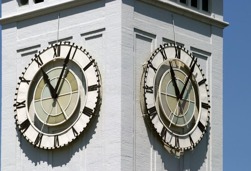 Detalle de la torre de reloj imagenes de archivo