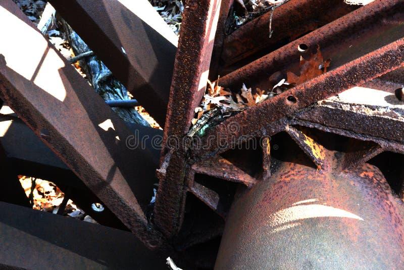 Detalle de la torre de perforación de aceite foto de archivo