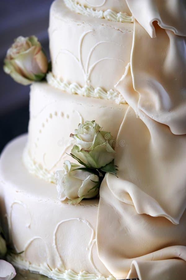 Detalle de la torta de boda imagen de archivo