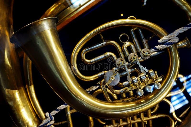 Detalle de la trompeta foto de archivo libre de regalías