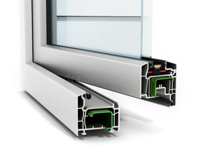Detalle de la ventana del PVC