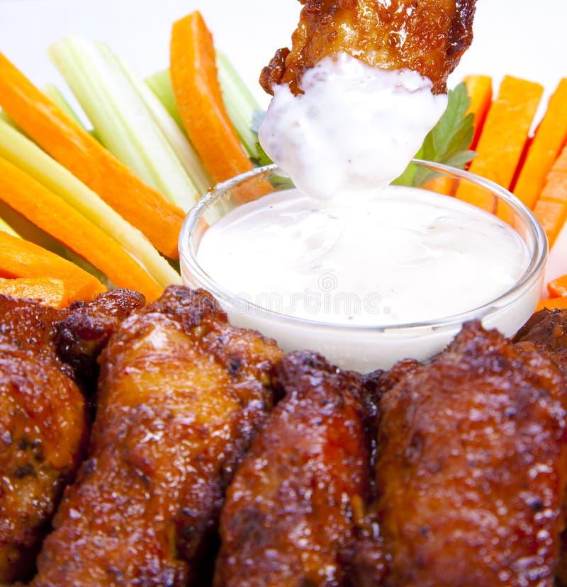 Detalle de las alas de pollo foto de archivo libre de regalías