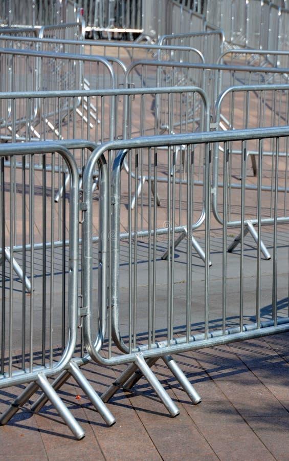 Detalle de las barreras de la muchedumbre fotografía de archivo libre de regalías