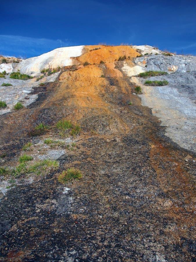 Detalle de las cascadas del travertino, monumento natural fotos de archivo libres de regalías