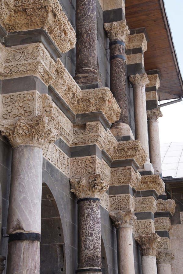 Detalle de las columnas del Corinthian imagen de archivo