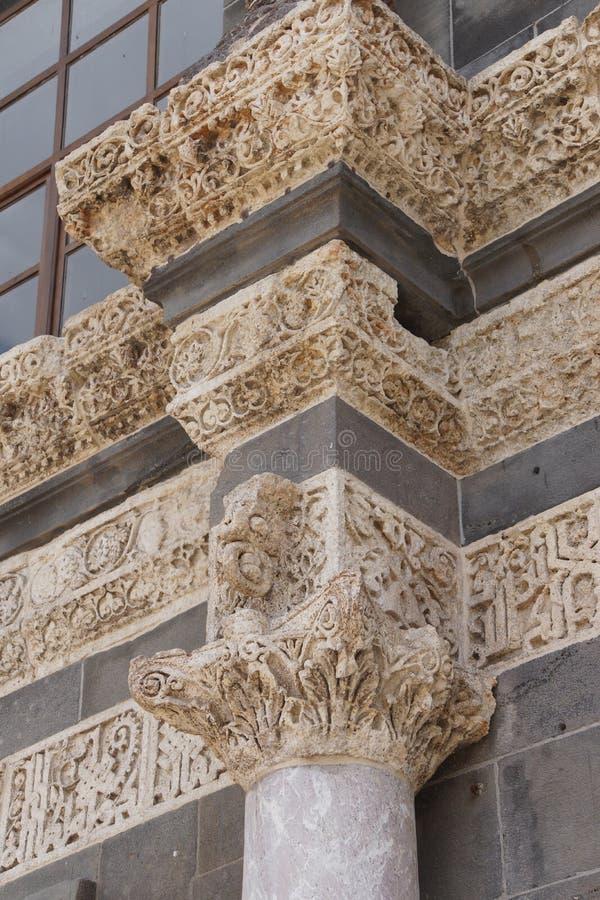 Detalle de las columnas del Corinthian foto de archivo libre de regalías