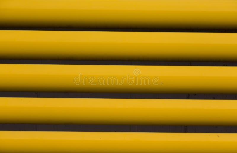 Detalle de las cortinas amarillas imagen de archivo libre de regalías