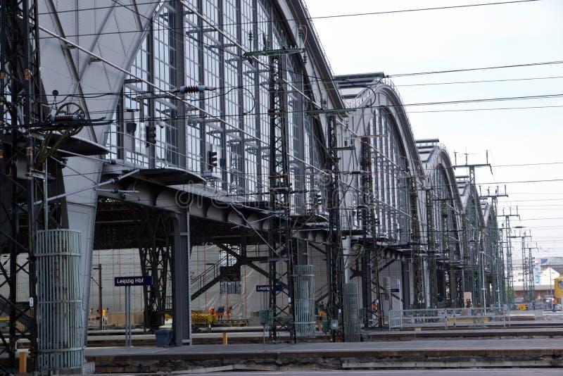 Detalle de las estaciones de tren fotografía de archivo