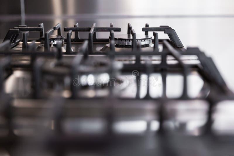 Detalle de las estufas de gas foto de archivo libre de regalías