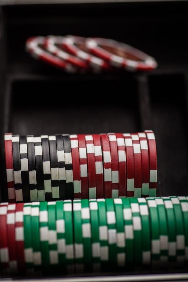 Detalle de las fichas de póker fotos de archivo libres de regalías
