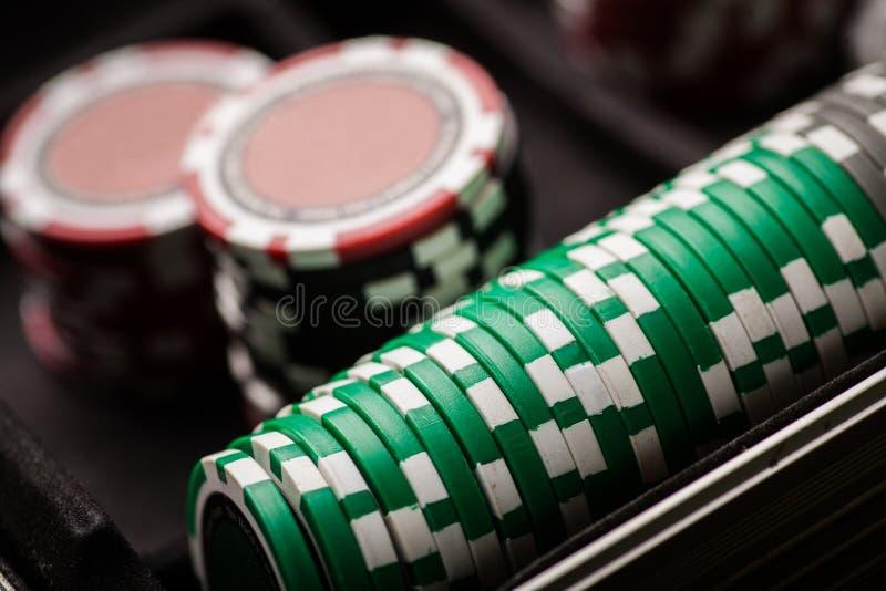 Detalle de las fichas de póker foto de archivo libre de regalías