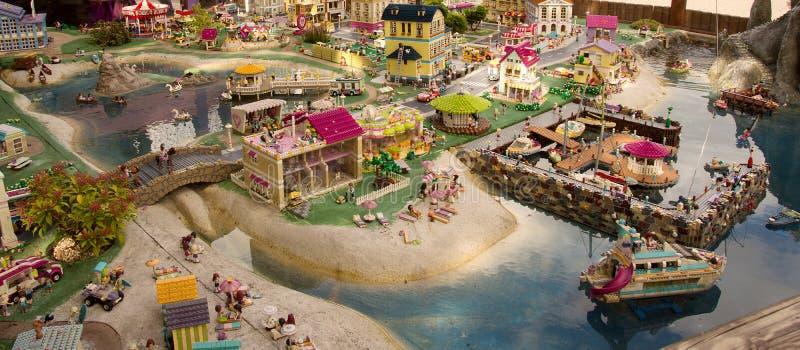 Detalle de Legoland en Billund, Dinamarca imagen de archivo