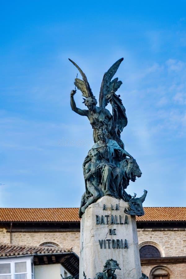 Detalle de los ángeles de bronce encima de la estatua conmemorativa de la victoria sobre Napoleon foto de archivo libre de regalías
