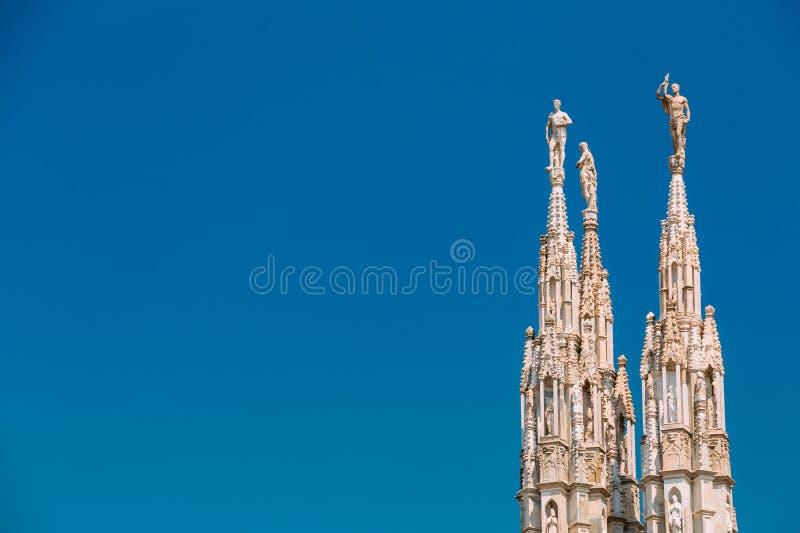 Detalle de los di Milano de Milan Cathedral o del Duomo en Milán, Italia imagen de archivo libre de regalías