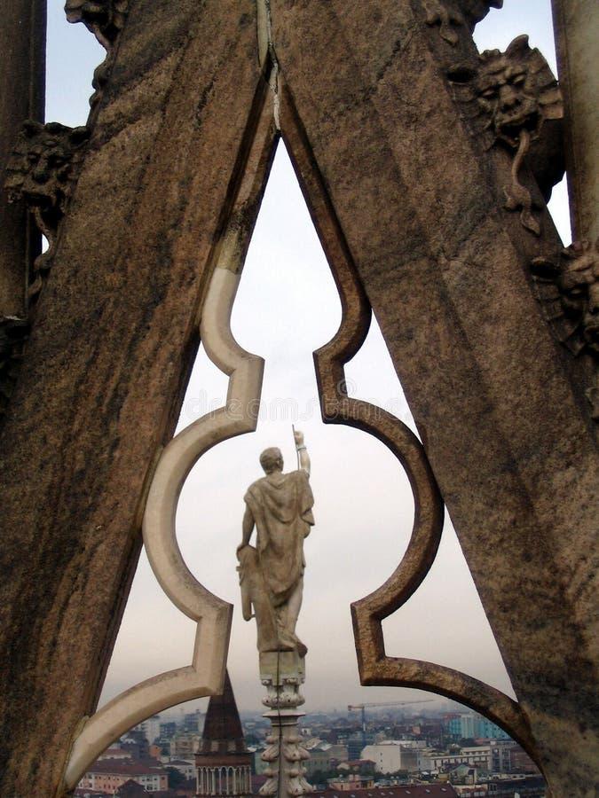 Detalle de los dom de Milano fotografía de archivo libre de regalías