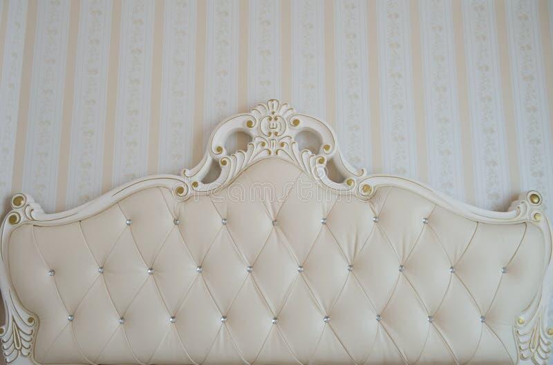 Detalle de lujo de la cama foto de archivo libre de regalías