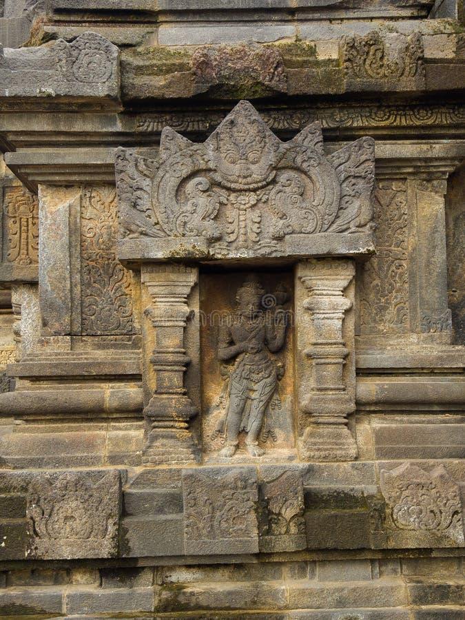 Detalle de Makara de Candi Siwa Shiva Temple en complejo del templo de Prambanan El compuesto del siglo IX del templo hindú local foto de archivo libre de regalías