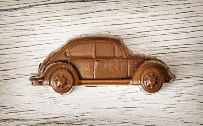 Detalle de poca figura del coche del chocolate fotografía de archivo libre de regalías