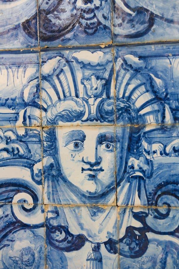 Detalle de un Azulejo en Coímbra fotos de archivo