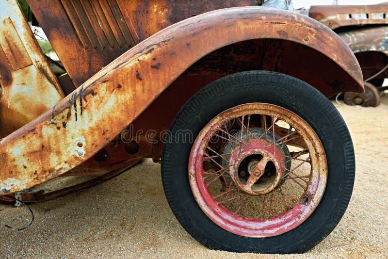 Detalle de un coche viejo de Morris Eight imagen de archivo