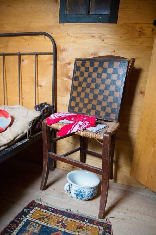 Detalle de un dormitorio holandés viejo imágenes de archivo libres de regalías